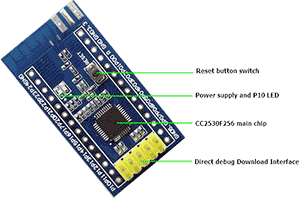 cc2530 board with debug interface